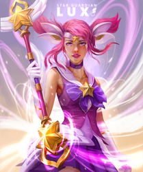 Star guardian Lux - Fan art by hoanghung161093