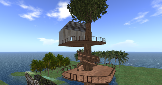 Maaya'sTreeHouse In VirtualWorld 001 by ElleLazareff