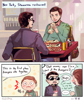 Spider Man: Homecoming / Shawarma by Mushstone