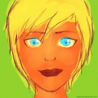 Quick drawing: Blondieh by Neey-chan