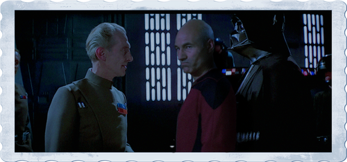 Vader and Tarkin scene Startrek Starwars Crossover by rocketman28