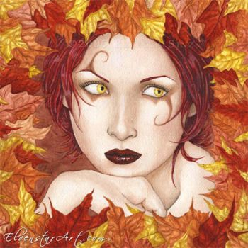 Fairy of the Autumn Wood by ElvenstarArt