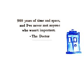 The Doctor Thinks I'm Important by SydneysDoodles