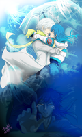 clear x aoba - DRAMAtical Murder by Tsu-Art