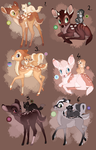 Fawn adopt. Collab with JessSheWolf. CLOSED: by BeeStarART