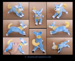 Plushie Commission: Sammy the Dog by Avanii