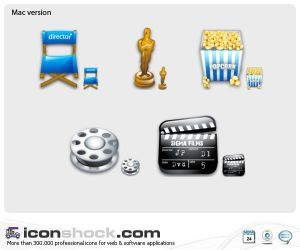 Filming web icons by Iconshock