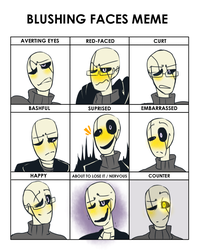 blushing faces meme UT by Bunnymuse