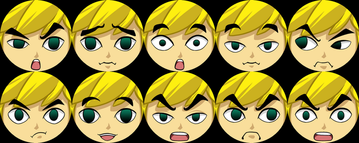 The Faces of Toon Link - Buttons by Azurah