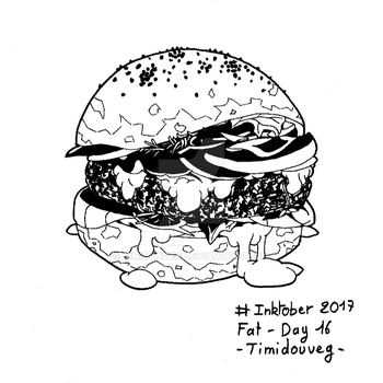 Inktober 2017 - 16 Fat by Timidouveg