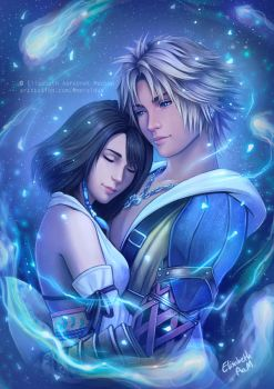 Final Fantasy X - Tidus and Yuna  by Emeraldus