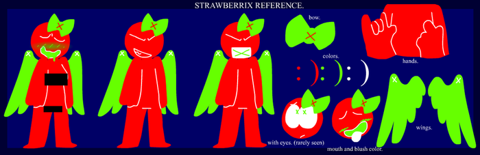 strawberrix reference by SansBirdie