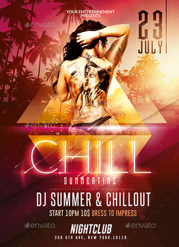 Summer Chill out | Psd Flyer Template