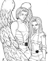 ANGEL AND HUSK by JamieFayX