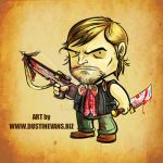 Daryl Dixon from The Walking Dead chibi version