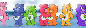 Care Bears: ...Lots of Care Bears by LuLuLunaBuna