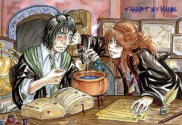 Lily y Snape by Manechan