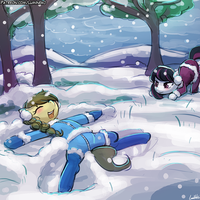 Speed Paint - Snow Play by luminaura