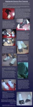 Draenei Digitigrade hooves/feet tutorial by VickiBrownies
