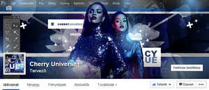 CherryUniverse Facebook cover with Rihanna by BrielleFantasy