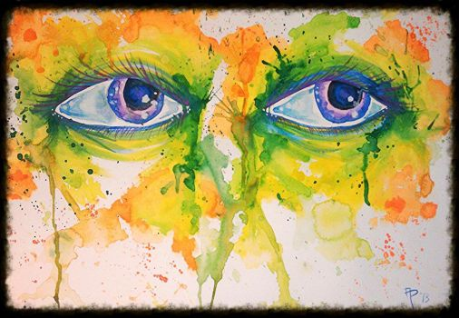 2013 Eyes Water Colors Splatter by AngiePip