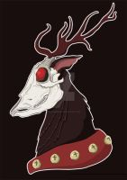 Rudolph The Dead-Nosed Reindeer by flailingmuse