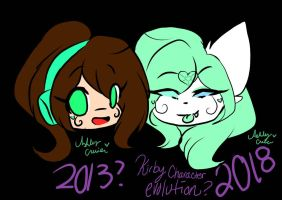 Kirby Evolution? only 2013 and 2018 lol by cutelittlepikakitty