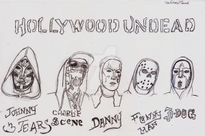 Hollywood Undead V Masks, 2017 by UnicronHound