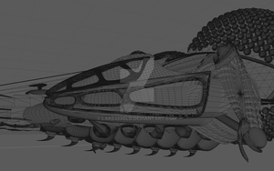LEXX (side view - wireframe). by Lake333GLD
