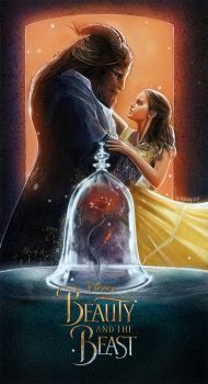 Beauty and the beast poster art by wallacedestiny