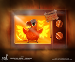 Daily Painting 1741# Monster Shop - Phoenix by Cryptid-Creations