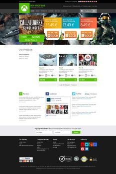 Xbox Live Web Interface Design - Minimal Version by princepal