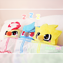 Zzz... Bedtime for Moltres, Articuno and Zapdos! by PinkuArt