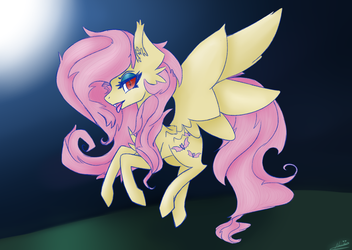 Commission Flutterbat by NamiiArts