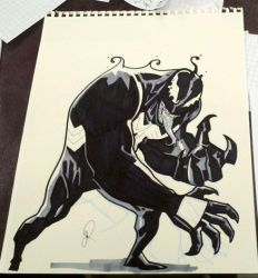 Free Comic Book Day Sketch - Venom by joshhood