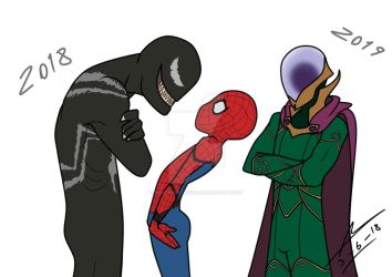bad luck spidey x,d by PowerSentai2016