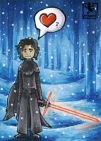 Lonely Kylo - ATC by Merinid-DE