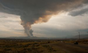 Eagle Mountain Fire Smoke Column by TheGhostVirus