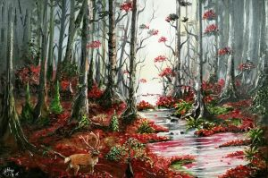 Ruby Red forest. Updated by virnagray