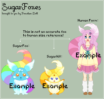 SugarFox Species Reference (Closed Species) by theRainbowOverlord