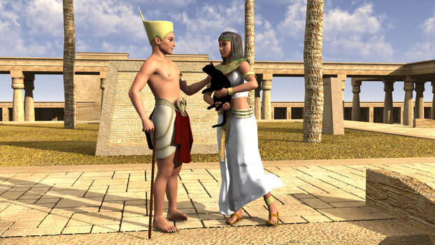 Lovers in Egypt by Steamrider86