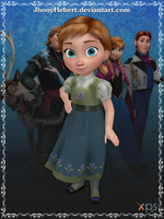 Anna (Young) - Frozen Free Fall by JhonyHebert