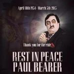 Paul Bearer Memorial service card by Shinjuchan