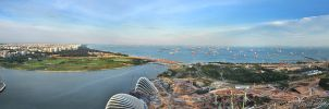 Singapore - Panorama IV by AlHabshi