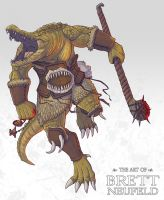 Crocodile Barbarian by Brett-Neufeld