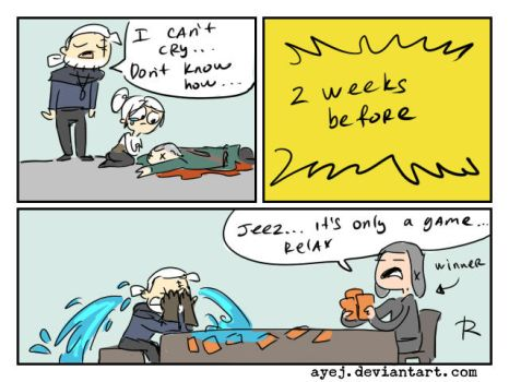 The Witcher 3, doodles 327 by Ayej