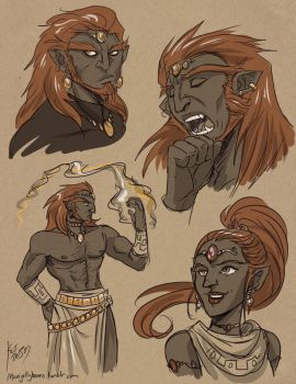 More Ganondorf plus Nabooru by lunajile