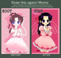 Before and After Meme: Arlym by Luna-Akari