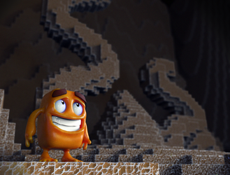 Zbrush Doodle Day 755 - Squishy Box Game Character by UnexpectedToy