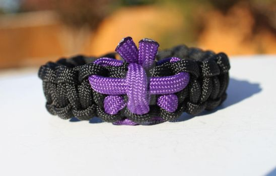 Lupus Purple Butterfly Paracord Bracelet by Darqflame